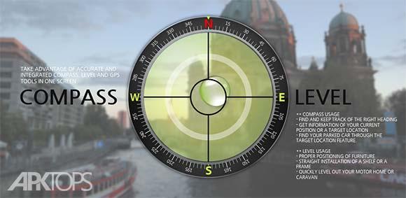 Compass Level & GPS دانلود برنامه قطب نما و نماش صافی سطح