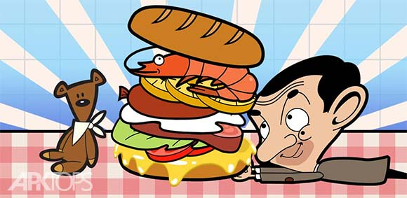 Mr Bean Sandwich Stack دانلود بازی مستر بین انباشته کردن ساندویچ ها
