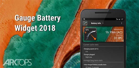 Gauge Battery Widget دانلود برنامه ویدجت گیج شکل باتری