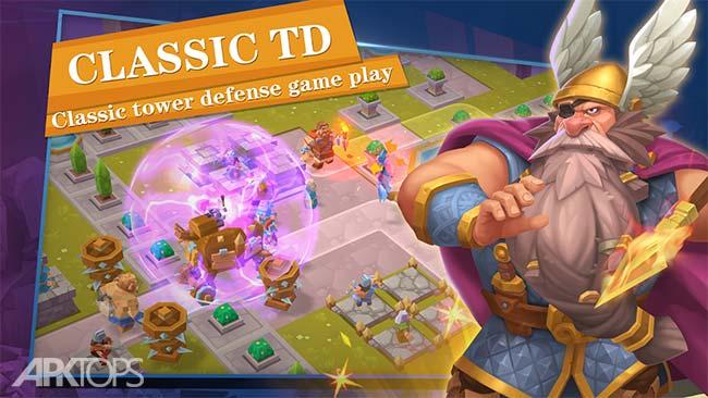 Gods TD: Myth defense v1.0.1.3 دانلود بازی برج دفاعی خدایان