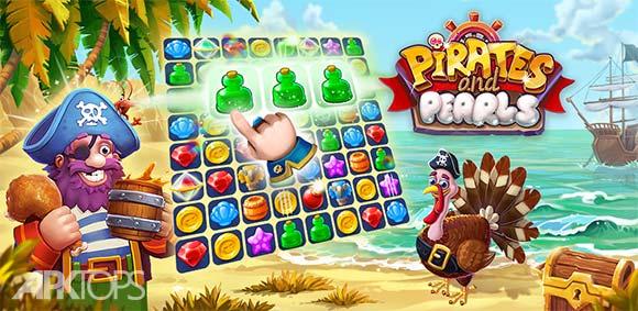 Pirates & Pearls: A Treasure Matching Puzzle دانلود بازی دزدان دریایی و مروارید ها