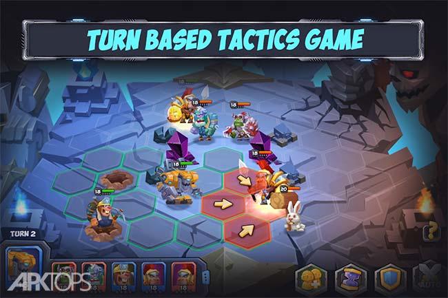 Tactical Monsters Rumble Arena -Tactics & Strategy v1.15.4 دانلود بازی جذاب زمین مبارزه ی تاکتیکی هیولاها+مود اندروید