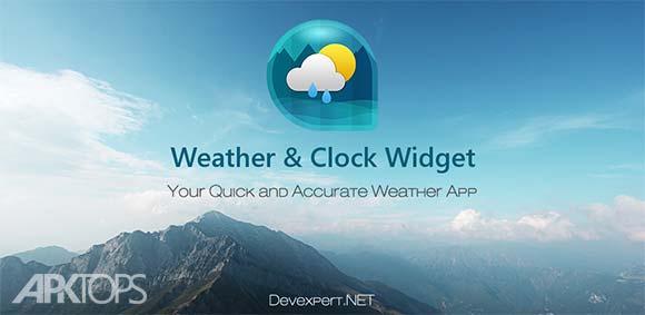 Weather&Clock Widget Ad Free دانلود برنامه ویدجت ساعت و اب و هوا