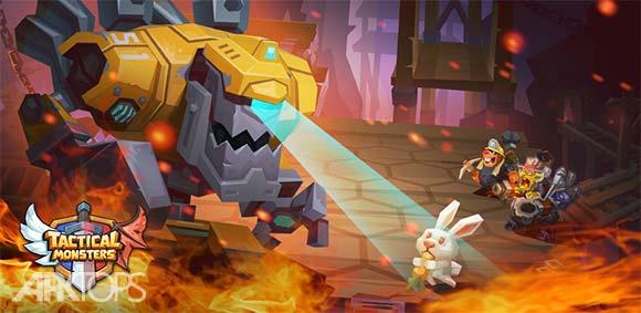 Tactical Monsters Rumble Arena -Tactics & Strategy دانلود بازی زمین مبارزه ی تاکتیکی هیولاها
