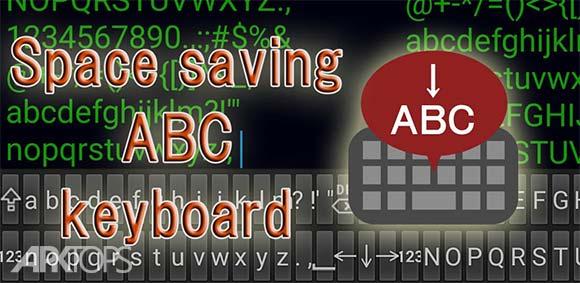 Space saving ABC keyboard دانلود برنامه صفحه کلید بسیار کوچک