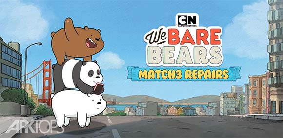 We Bare Bears Match3 Repairs دانلود بازی پازل سه تایی خرس ها