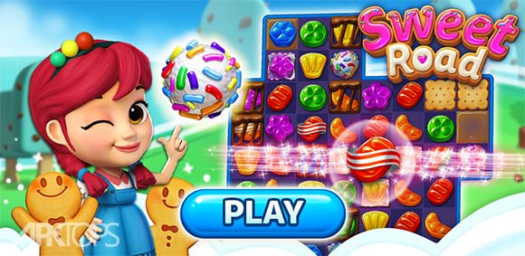 Sweet Road – Cool Match 3 دانلود بازی راه شیرین