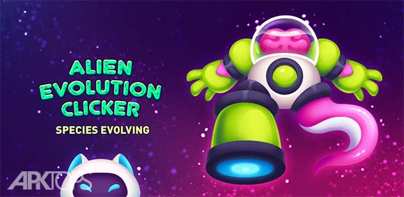 Alien Evolution Clicker: Species Evolving دانلود بازی کلیکی تکامل بیگانه
