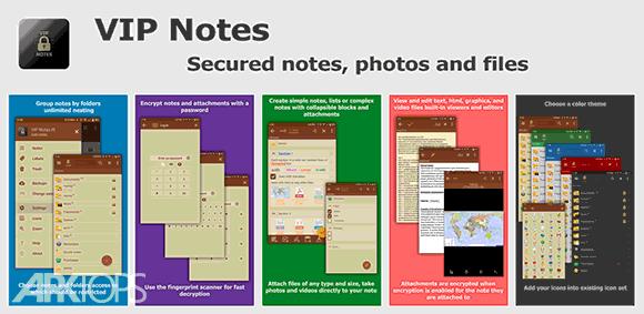 VIP Notes - keeper for passwords, documents, files دانلود برنامه یادداشت های مهم