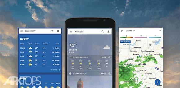 The Weather Channel: Local Forecast & Weather Maps دانلود برنامه کانال هواشناسی