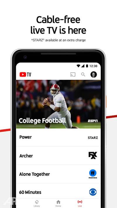YouTube TV – Watch && Record Live TV v2.48.3 دانلود برنامه یوتیوب تی وی تلویزیون اینترنتی یوتیوب