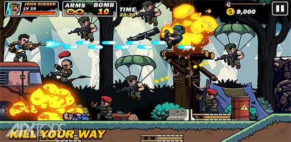 Metal Mercenary - 2D Platform Action Shooter دانلود بازی سرباز اهنی