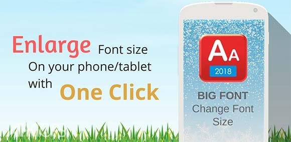 Big Font - Change Font Size & Larger Font دانلود برنامه تغییر اندازه فونت