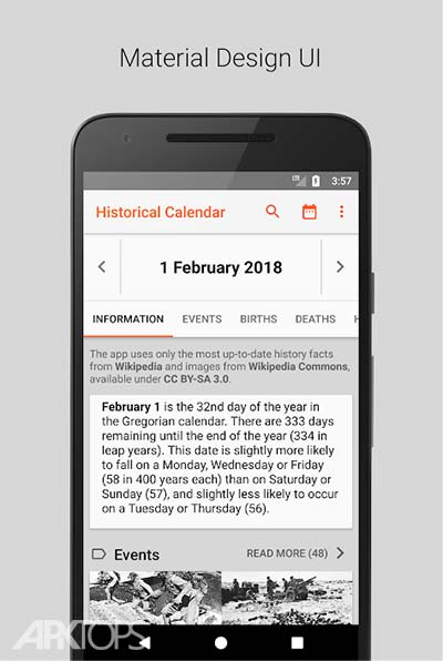 Today in History – On this Day v5.0.1 دانلود برنامه نمایش رویداد های تاریخی