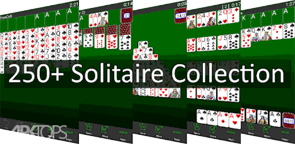 250+ Solitaire Collection دانلود بازی مجموعه بازی های یک نفره کارتی