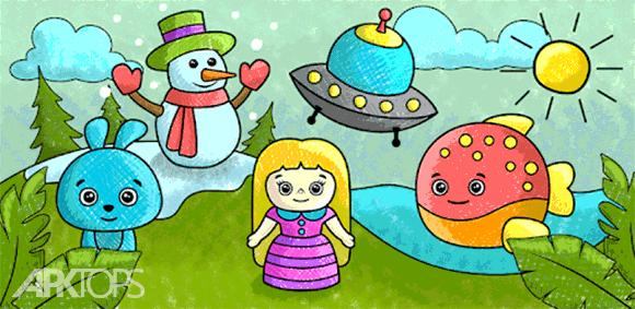 Coloring book for kids دانلود بازی کتاب رنگ امیزی برای کودکان