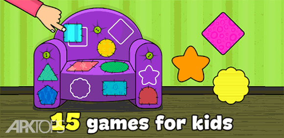 Shapes and Colors – Kids games for toddlers دانلود بازی رنگ ها و شکل ها برای کودکان