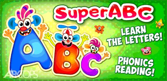 Super ABC Learning games for kids Preschool apps دانلود بازی آموزش الفبای انگلیسی به کودکان