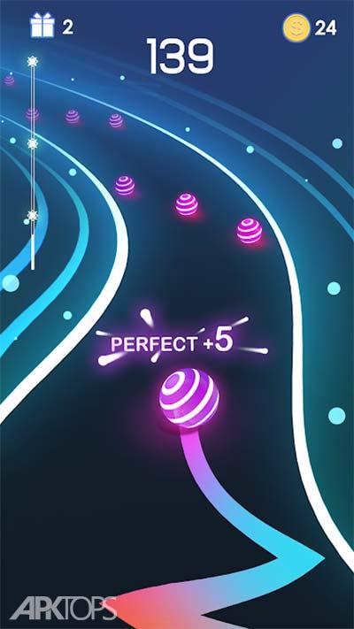 Dancing Road: Colour Ball Run! v1.2.2 دانلود بازی مسیر رقصان توپ های رنگی