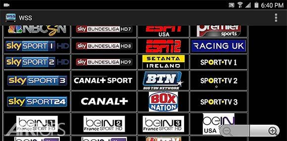WSS 2.3 : World Sports Streams دانلود برنامه تماشای انلاین مسابقات ورزشی