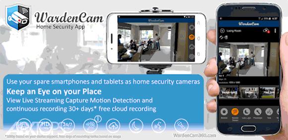 Home Security Camera WardenCam - reuse old phones دانلود برنامه تبدیل گوشی به دوربین امنیتی