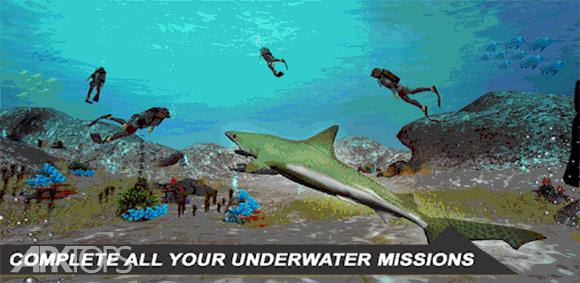 Shark Simulator 2018 دانلود بازی شبیه سازی کوسه
