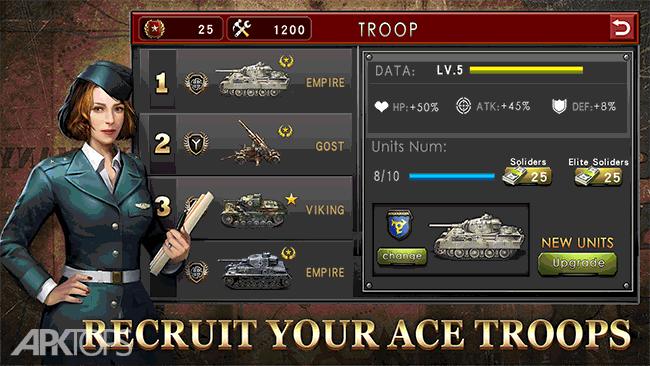 WW2: Strategy Commander Conquer Frontline v2.1.0 دانلود بازی فرماندهی استراتژیک تسخیر خط مقدم + مود اندروید