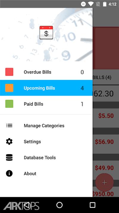 Bills Reminder 2.0 v3.0.0 دانلود برنامه یاداور صورت حساب