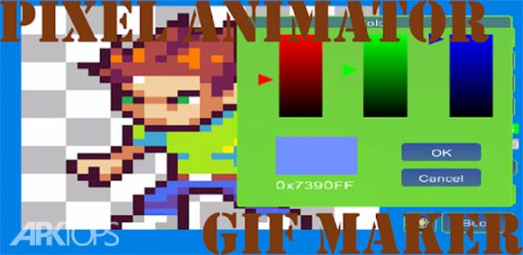 Pixel Animator:GIF Maker دانلود برنامه ساخت انیمیشن گیف پیکسلی