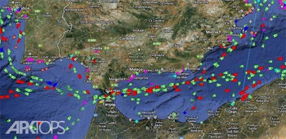 MarineTraffic ship positions دانلود برنامه نمایش ترافیک و موقعیت کشتی ها