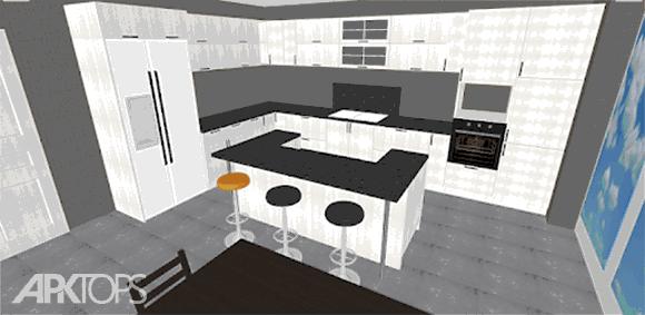 Kitchen Planner 3D دانلود برنامه طراحی سه بعدی اشپزخانه
