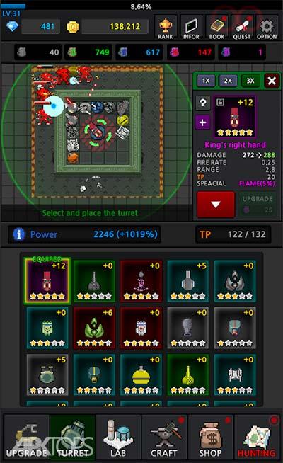 Grow Turret – Idle Clicker Defense v6.5 دانلود بازی کلیکی ساخت برج های دفاعی + مود