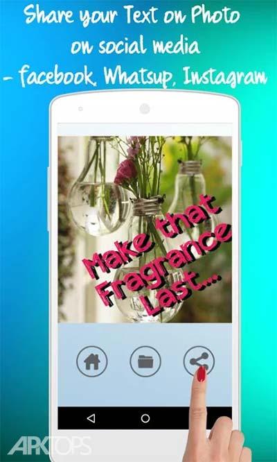Text On Photo : Stylish Fonts v1.5 دانلود برنامه نوشتن متن با فونت خاص روی تصاویر