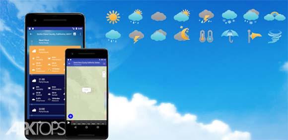Weather Forecast Pro: Timeline, Radar, MoonView دانلود برنامه پیش بینی اب و هوا
