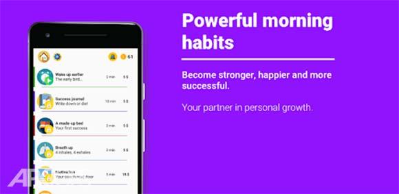 Powerful morning habits دانلود برنامه ایجاد عادت های مفید