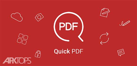Quick PDF - Scan, Edit, View, Fill, Sign, Convert دانلود برنامه اسکن و ویرایش پی دی اف