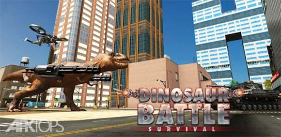 Dinosaur Battle Survival دانلود بازی نبرد دایناسور ها