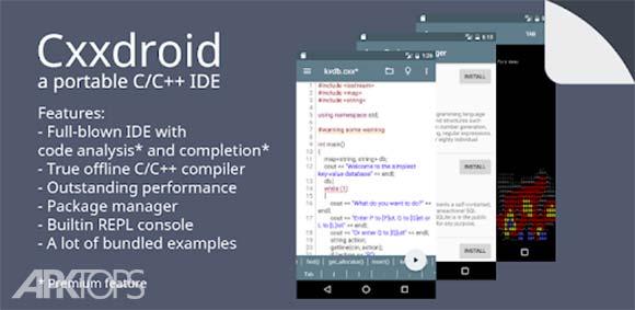Cxxdroid - C++ compiler IDE دانلود برنامه کامپایلر سی پلاس پلاس