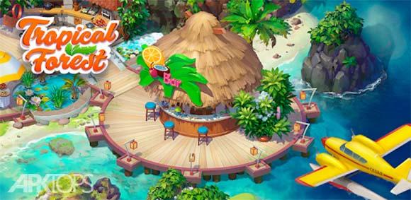 Tropical Forest: Match 3 Story دانلود بازی جنگل گرمسیری
