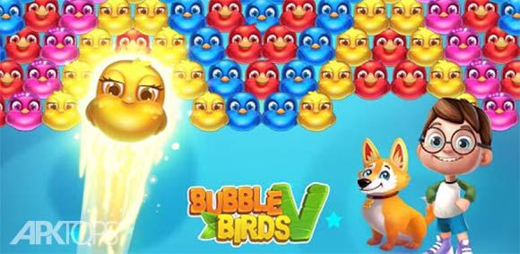 Bubble Birds V – Color Birds Shooter دانلود بازی پرندگان حبابی