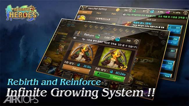 Rebirth Heroes: Idle RPG v1.0.0.2 دانلود بازی تجدید حیات قهرمانان