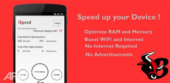 iSpeed - Best Android Booster دانلود برنامه افزایش سرعت گوشی