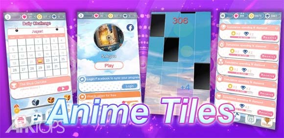 Anime Music Tiles: Piano Dream دانلود بازی کاشی های موسیقی انیمه ای
