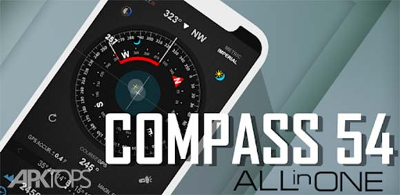 Compass 54 (All-in-One GPS, Weather, Map, Camera) دانلود برنامه قطب نمای همه کاره