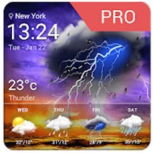Accurate Weather Report Pro v16.6.0.47410 دانلود برنامه گزارش دقیق هواشناسی اندروید