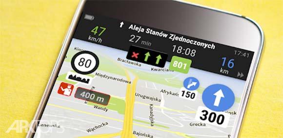 AutoMapa GPS navigation, CB Radio, radars, traffic دانلود برنامه مسیریابی اتومپا