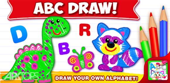 ABC DRAW Kids Drawing! Alphabet Games Preschool دانلود بازی نقاشی حروف الفبا