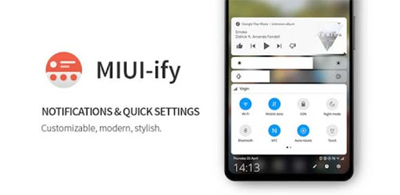 MIUI-ify - Notification Shade دانلود برنامه طرح بخش نوتیفیکیشن میوآی شیائومی