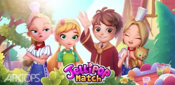 Jellipop Match: Open your dream shop دانلود بازی مچ کردن شکلات های ژله ای