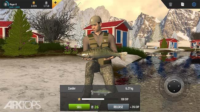 Professional Fishing v1.20 دانلود بازی ماهیگیری حرفه ای +مود اندروید